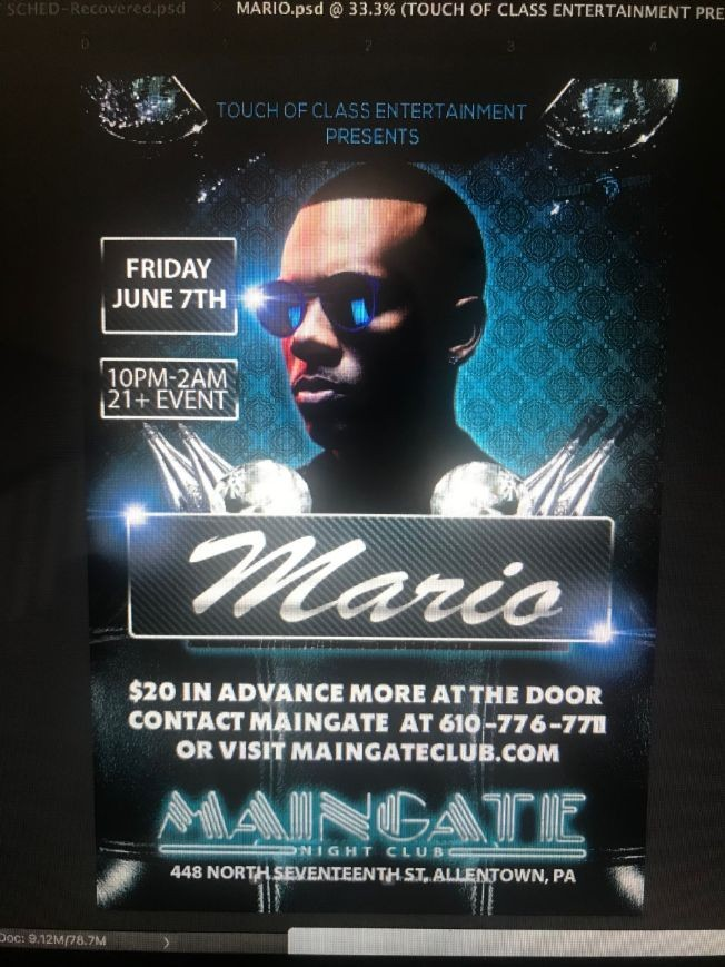 Flyer for Mario Live on Stage