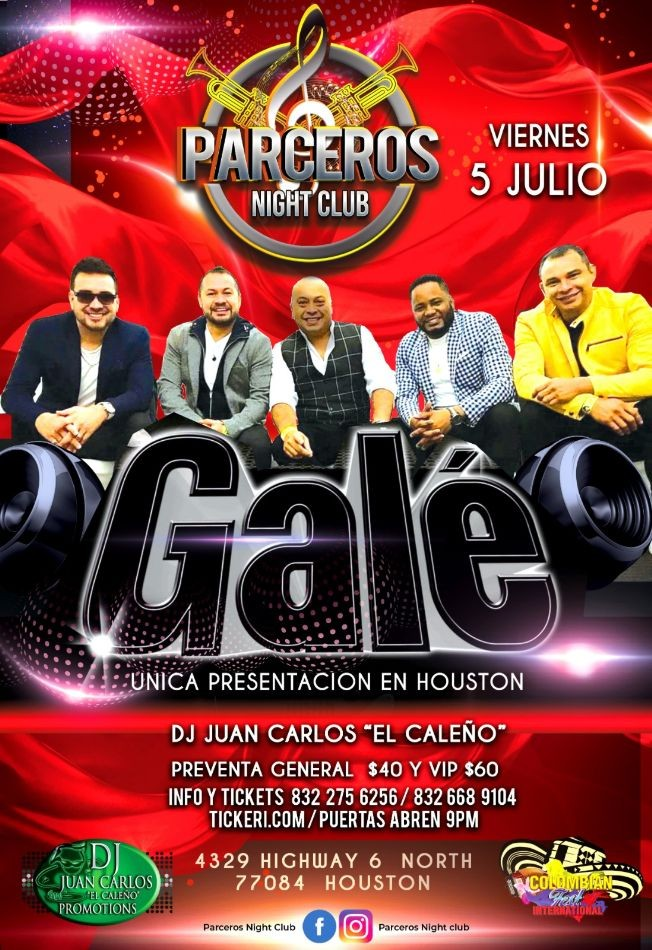 Flyer for Grupo Gale en Concierto en Houston