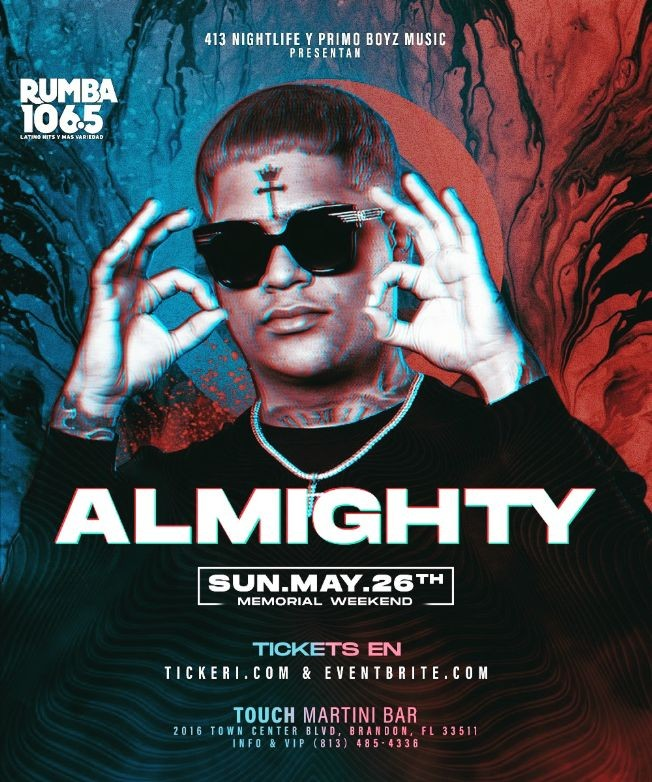 Flyer for Almighty The Comeback - Memorial Weekend
