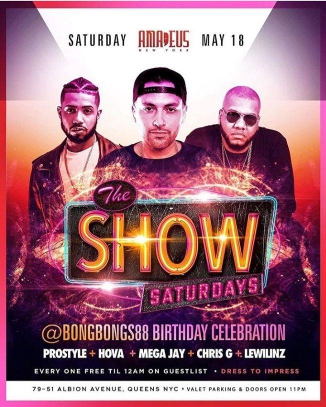 Flyer for Latin Saturdays DJ Prostyle Live At Amadeus Nightclub
