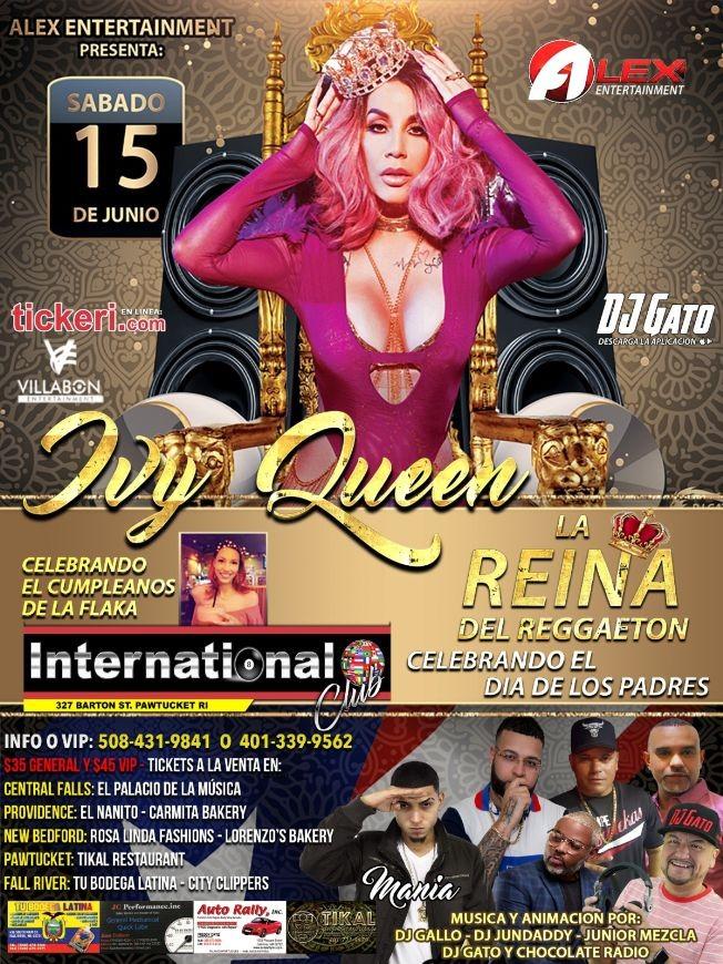 Flyer for Ivy Queen En Concierto