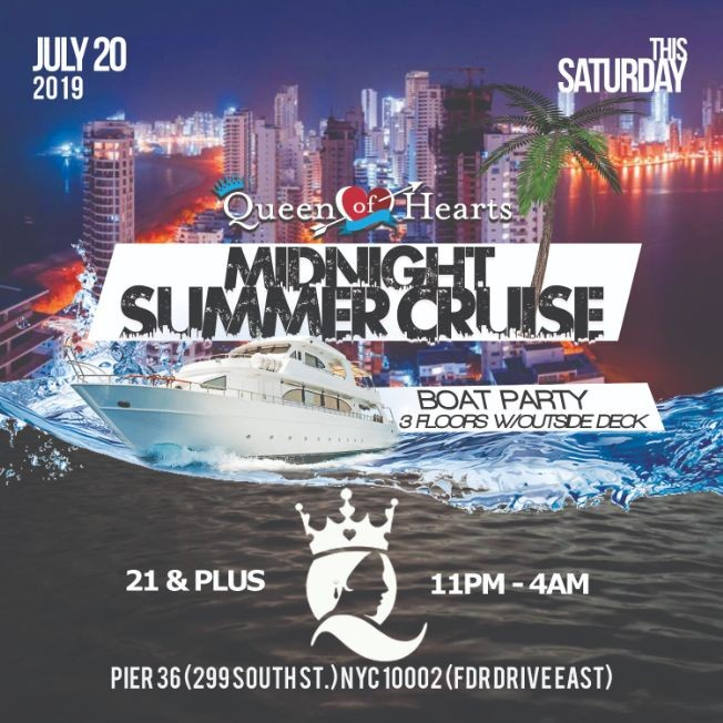 Flyer for Summer Midnight Cruise At Pier 36