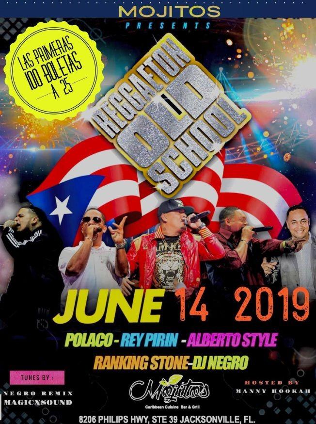 Flyer for Reggaeton Old School con Alberto Style, Polaco, Rey Pirin Y mas En Concierto en Jacksonville,FL