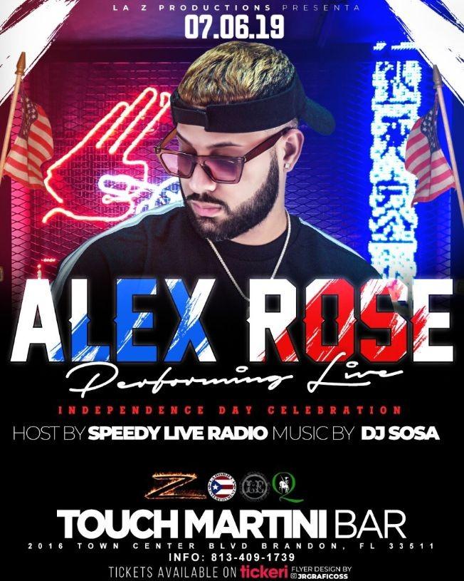 Flyer for Alex Rose in Concert!