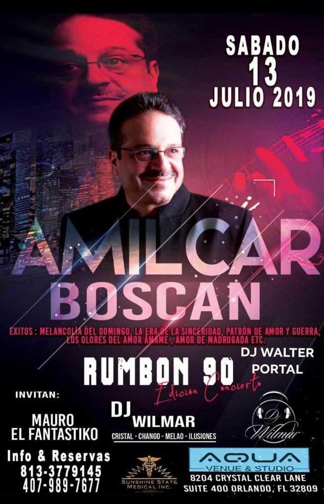 Flyer for AMILCAR BOSCAN