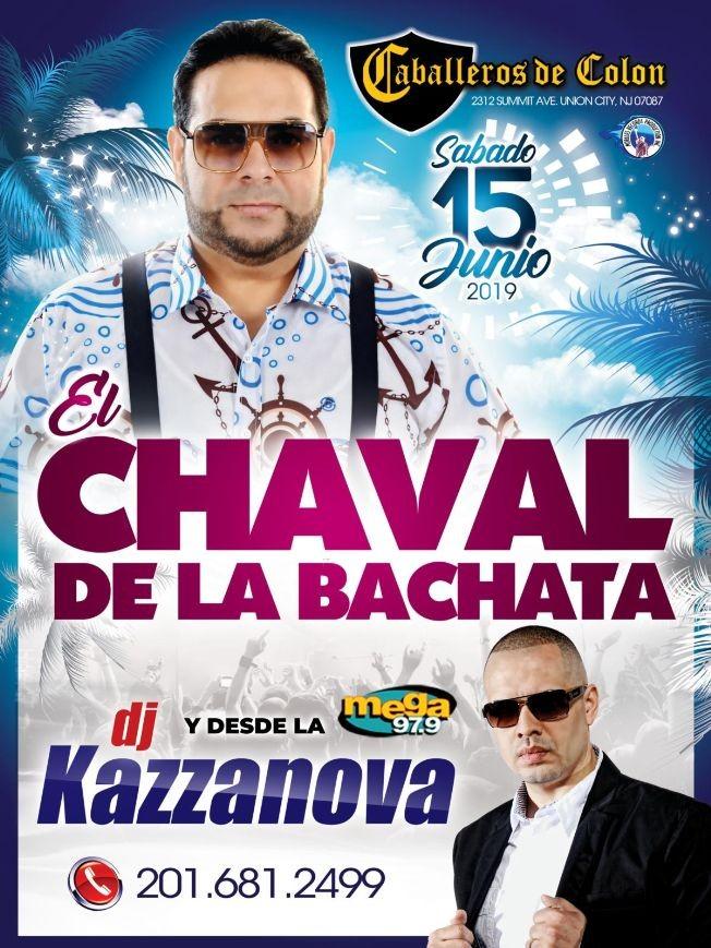 Flyer for El Chaval de la Bachata en Concierto en Union City,NJ