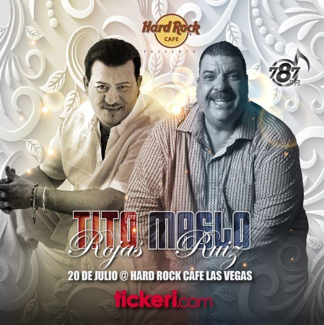 Flyer for Tito Rojas & Maelo Ruiz en Las Vegas,NV