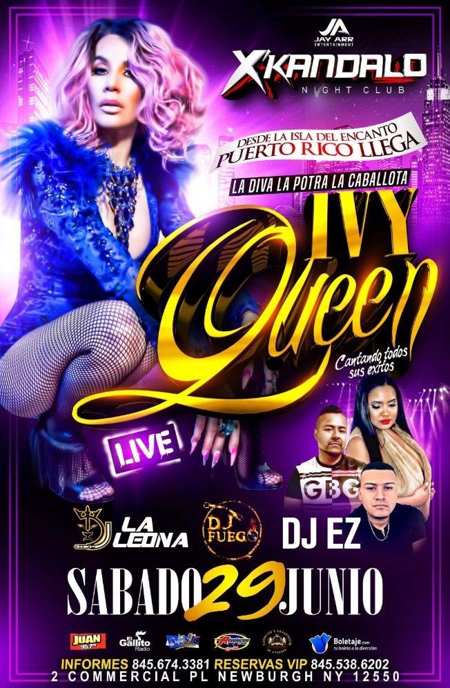 Flyer for Ivy Queen en Vivo en Newburgh,NY CANCELADO