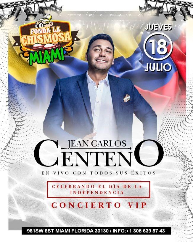 """Flyer for Jean Carlos Centeno """"De Parranda"""" en Miami,FL"""