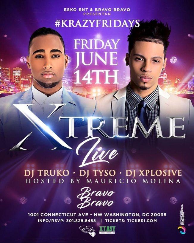 Flyer for Xtreme Take Over Bravo Bravo