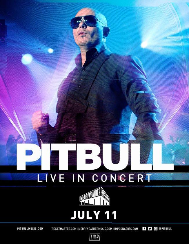 Flyer for Pitbull in concert
