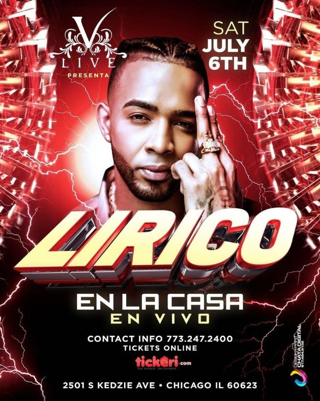 Flyer for Lirico en la casa por primera vez en Chicago