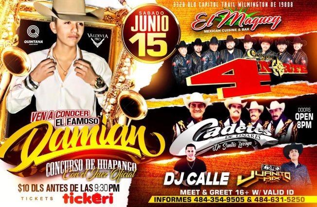 Flyer for El Famoso Damian Conjunto 4 Norte Cadetes