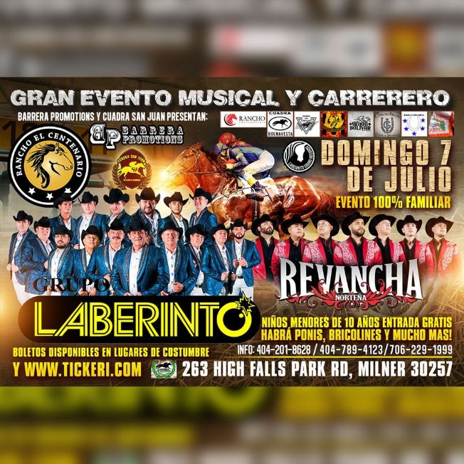 Flyer for GRAN EVENTO MUSICAL Y CARRERERO