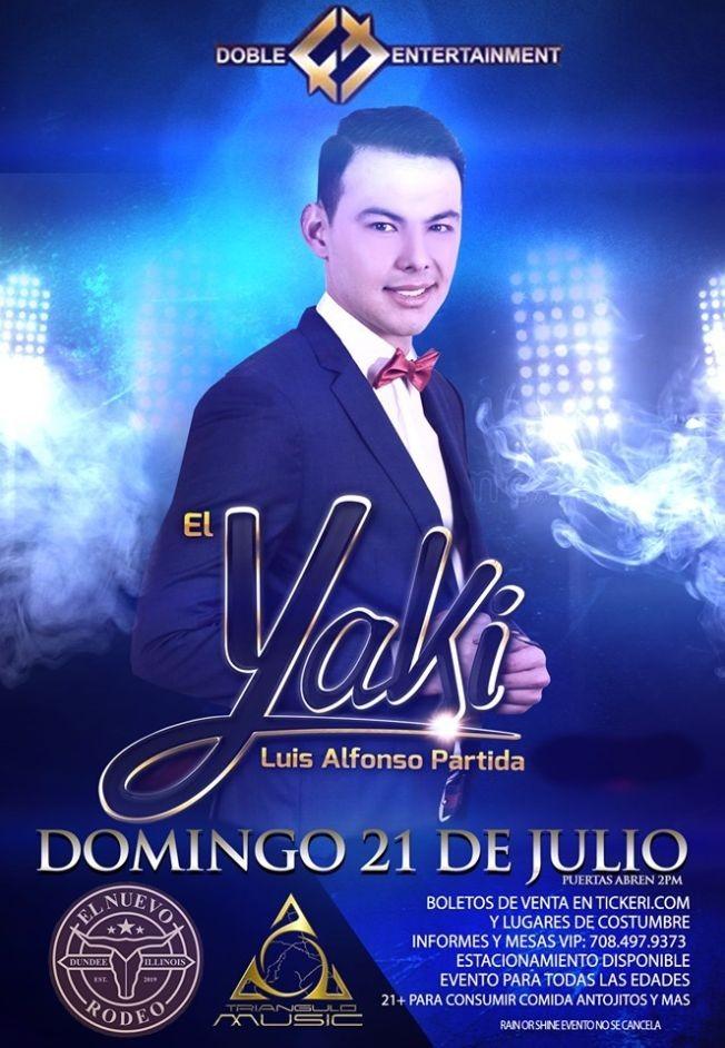 Flyer for El Yaki en el Nuevo Rodeo
