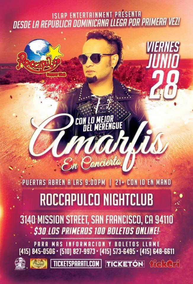 Flyer for Amarfis En San Francisco!