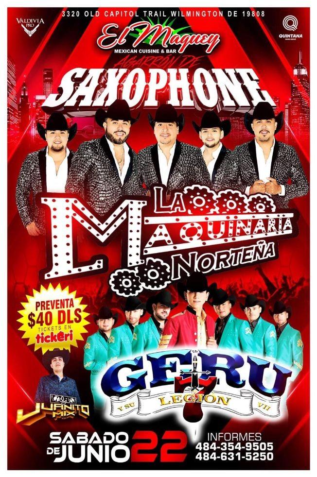 Flyer for LA MAQUINARIA NORTEÑA EL GERU