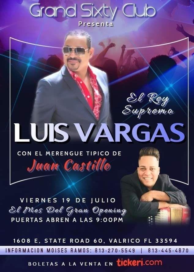 Flyer for Luis Vargas & Juan Castillo.