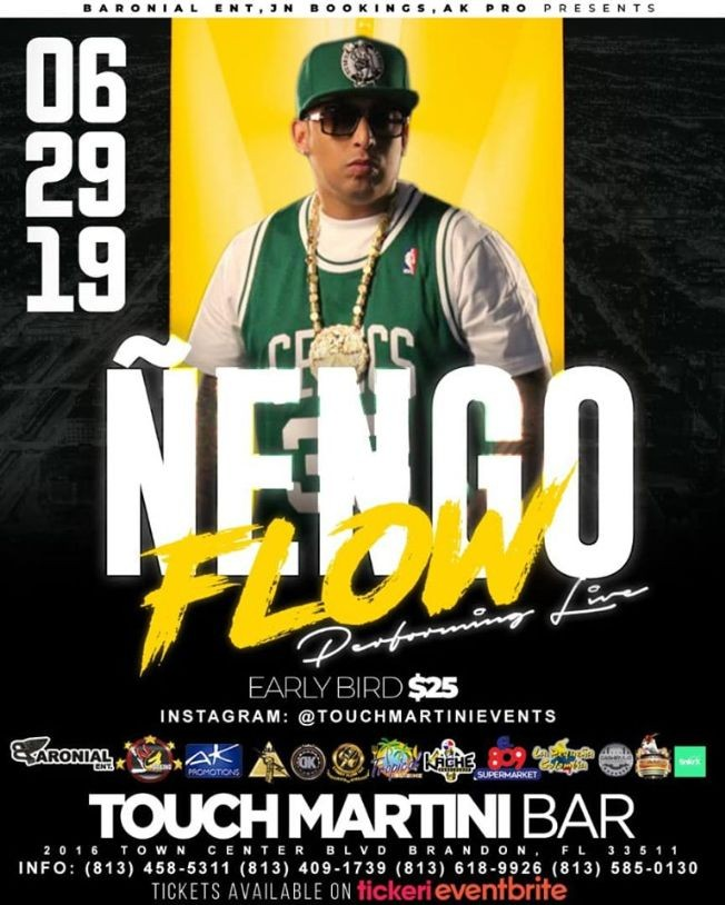 Flyer for Ñengo Flow Live In Concert