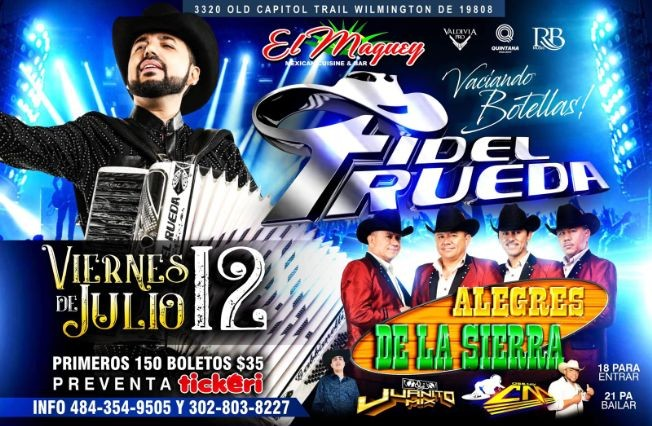 Flyer for FIDEL RUEDA Y ALEGRES DE LA SIERRA