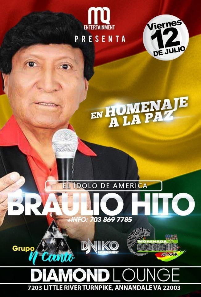 Flyer for Braulio Hito en Concierto en Homenaje a la Paz en Annandale,VA
