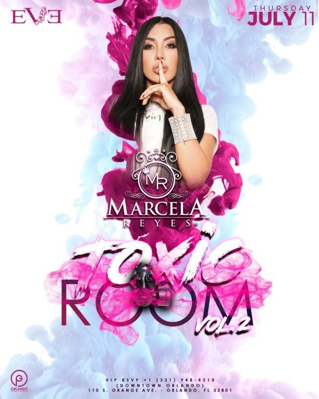 Flyer for Marcela Reyes live