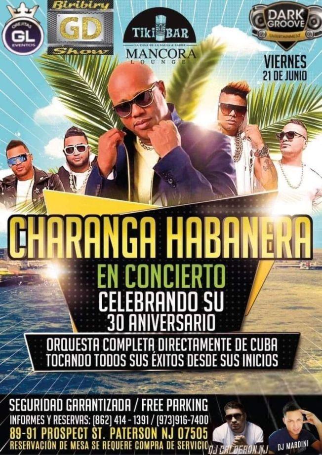 Flyer for LA CHARANGA HABANERA EN PATERSON NJ