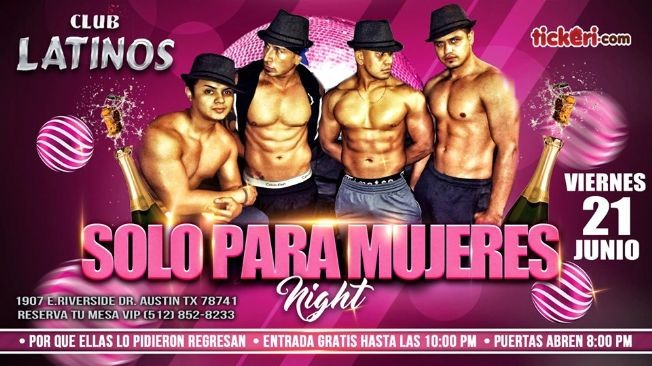 Flyer for SOLO PARA MUJERES VIP