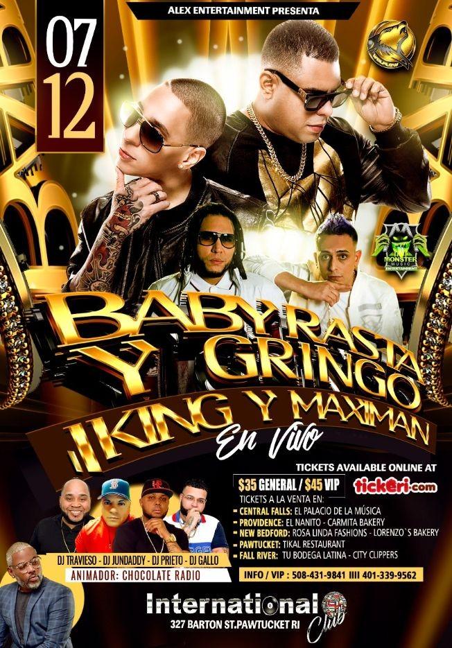 Flyer for Baby Rasta Y Gringo - J King Y Maximan En Vivo