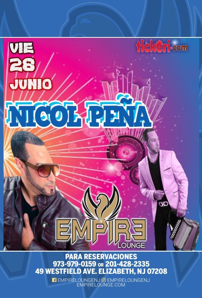 Flyer for Nicol Peña Live At Empire Lounge