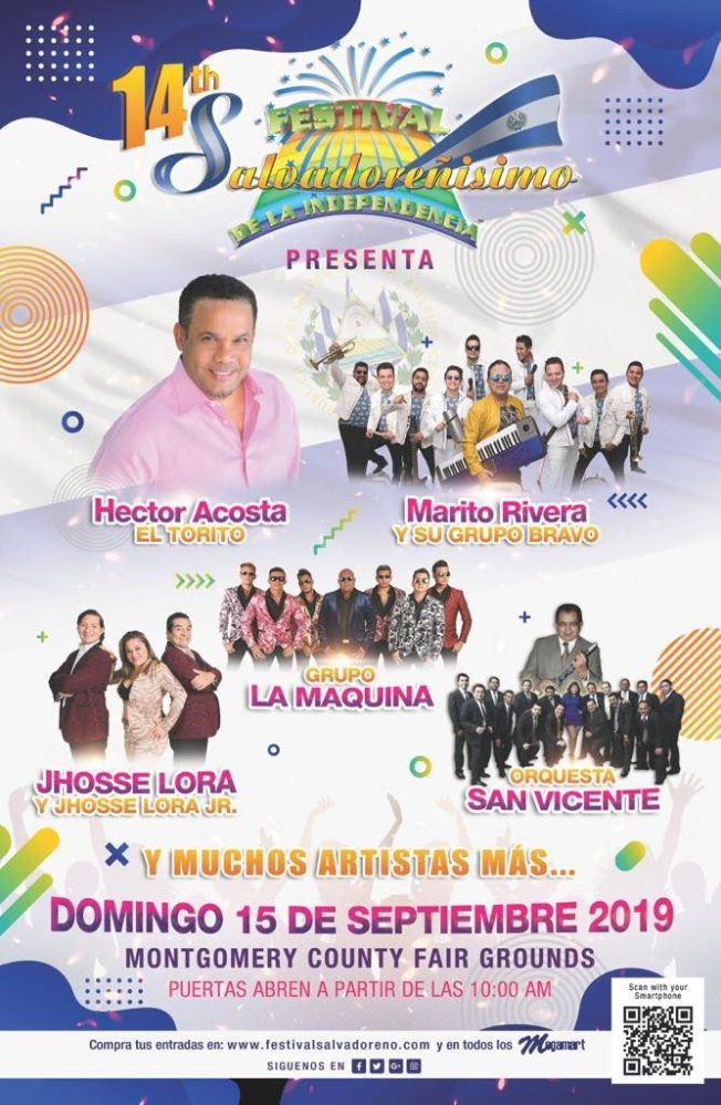 Flyer for 14TH FESTIVAL SALVADORENISIMO