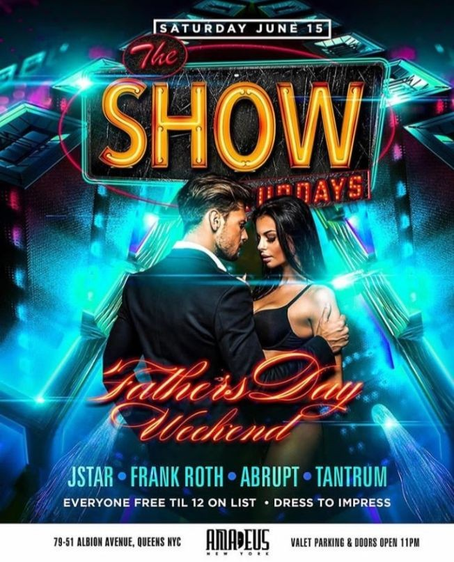Flyer for Latin Saturdays Fathers Day Weekend At Amadeus Nightclub