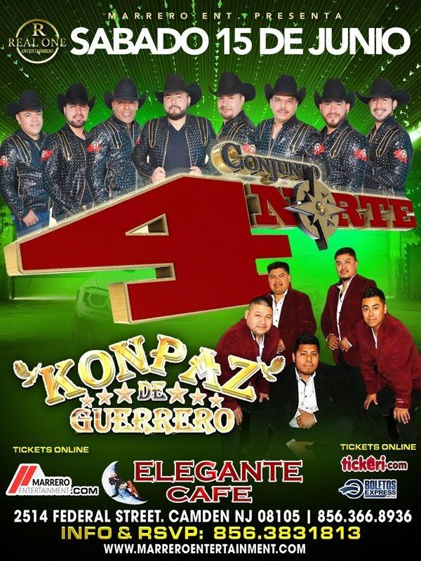 Flyer for Conjunto 4 Norte y Konpaz de Guerrero en Vivo