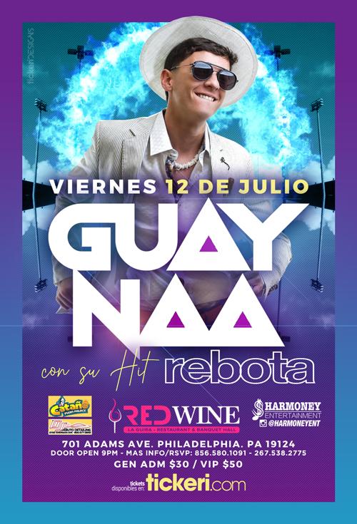 Flyer for Guaynaa con su Hit Rebota en Concierto POSTPONED
