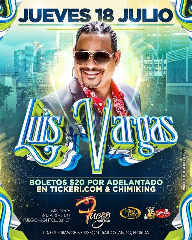 Flyer for Luis Vargas