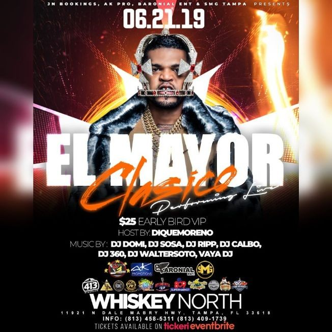 "Flyer for El Mayor ""Clasico"" Live In Concert"