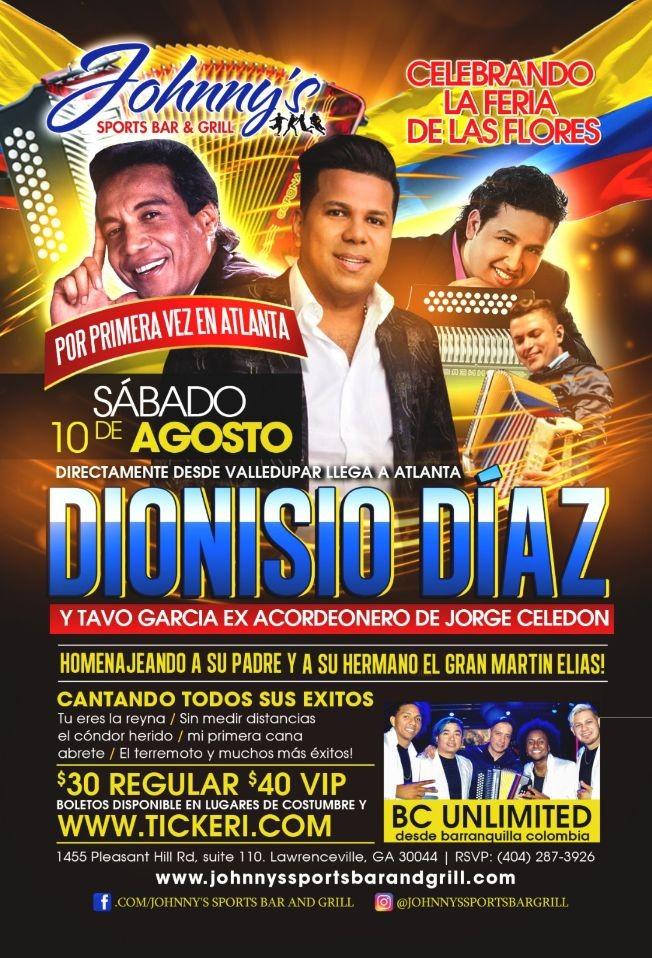 """Flyer for Celebrando """"La Feria de las Flores""""Diomedez Dionisio Díaz homenajeando a Su padre Diomedez Díaz y a Martin Elias"""