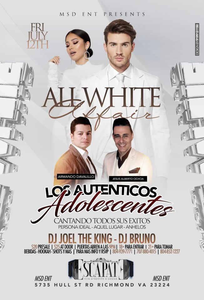 Flyer for Los Autenticos Adolecentes