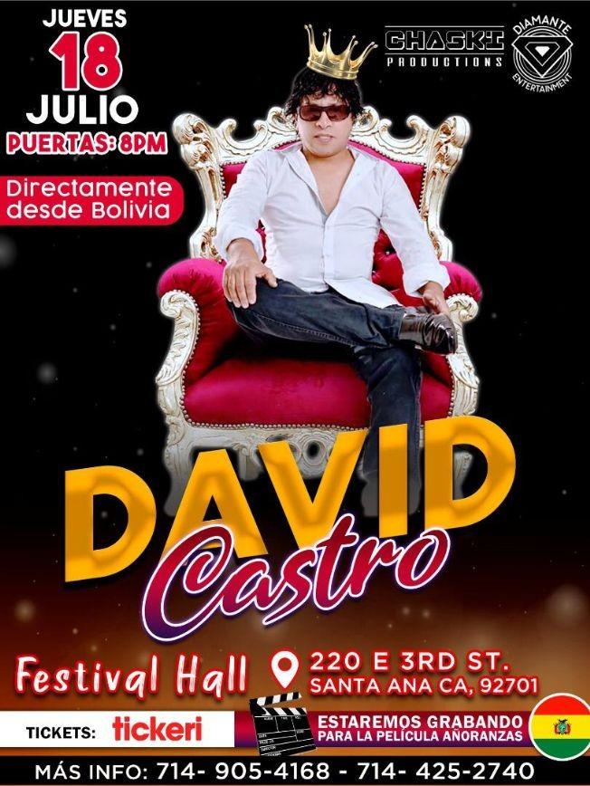 Flyer for David Castro en Santa Ana, CA