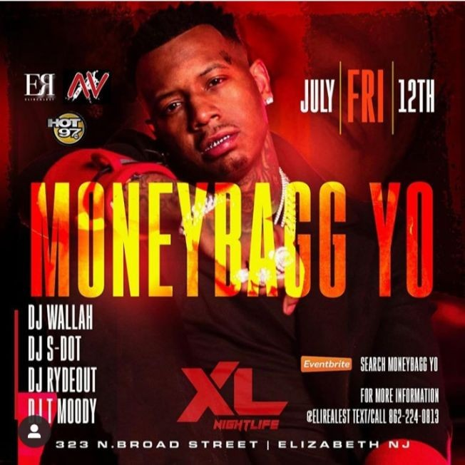 Flyer for Moneybagg Yo Live At XL Nightlife