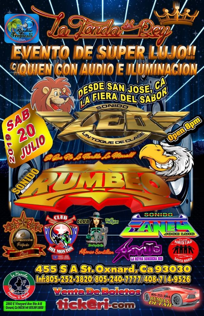 Flyer for Sonido Leo,Sonido Rumbeo,Sonido Caney En Oxnard,CA