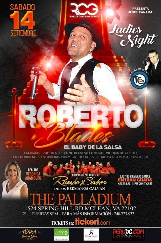 Flyer for Roberto Blades @ The Palladium - Ladies Night