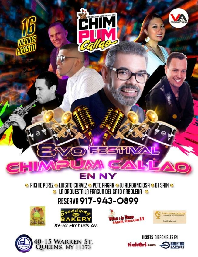 Flyer for 8vo Festival Chimpum Callao en NY