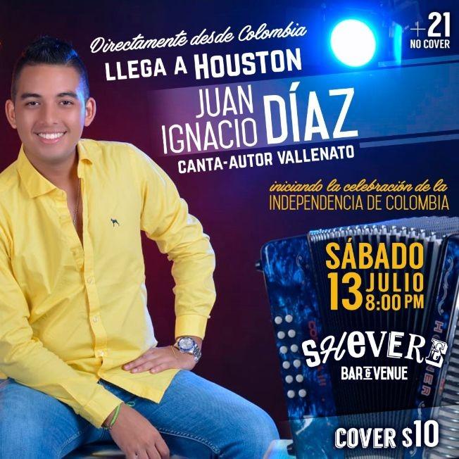 Flyer for Intimo Vallenato con Juan Ignacio Diaz