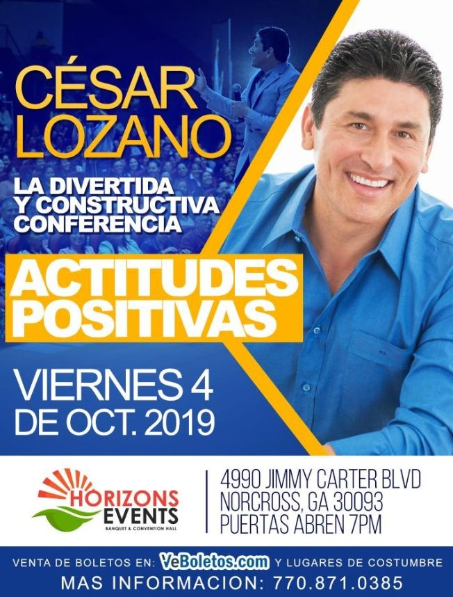Flyer for Cesar Lozano en Conferencia en Norcross,GA
