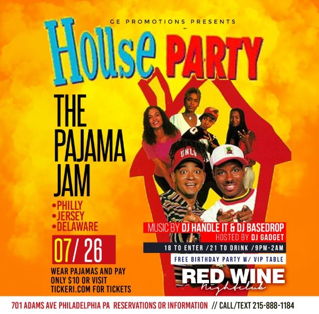 Flyer for The pajama jam