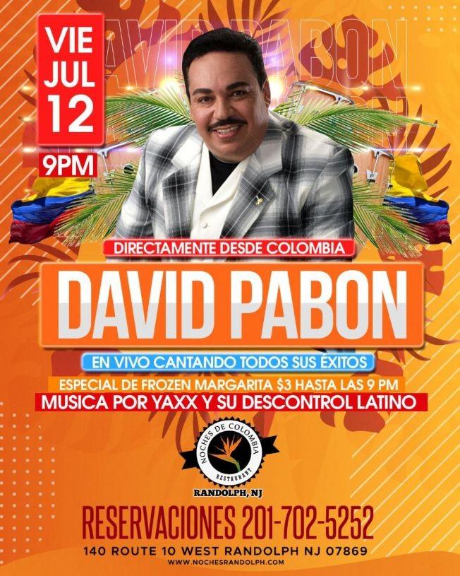 Flyer for DAVID PABON EN CONCIERTO