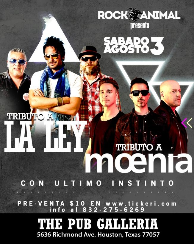 Flyer for Tributo a La Ley / Moenia