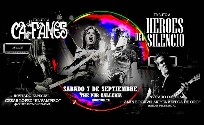 Flyer for Tributo a Heroes del Silencio y Caifanes - Houston