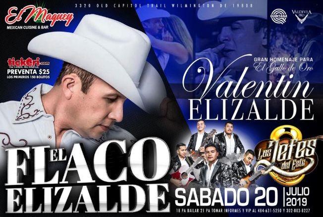 Flyer for EL FLACO ELIZALDE Y LOS JEFES DEL ESTE